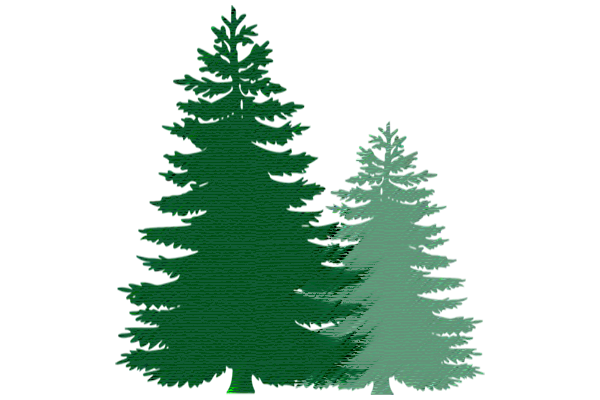 wood prices - vector of pine trees